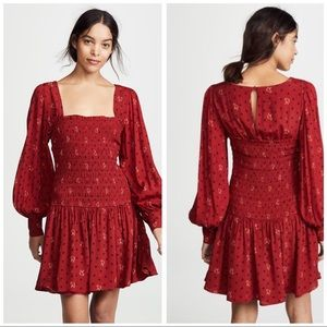 Free People Two Faces Mini Dress in RED ❤️